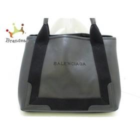 バレンシアガ BALENCIAGA ハンドバッグ ネイビーカバS 339933 黒 レザー  値下げ 20190820