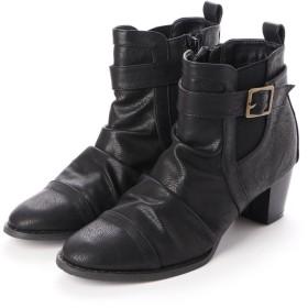 ジーラ GeeRA ベルト付ブーツ (黒)