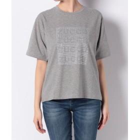 ズッカ ZUCCa / スタッズロゴTシャツ / Tシャツ レディース グレー M 【ZUCCa】