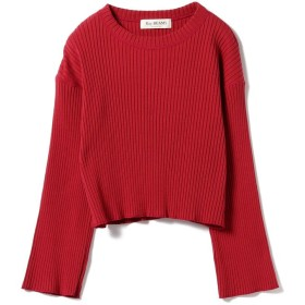 【50%OFF】 ビームス アウトレット Ray BEAMS / リブ ワイドスリーブ クロップド レディース RED ONESIZE 【BEAMS OUTLET】 【セール開催中】
