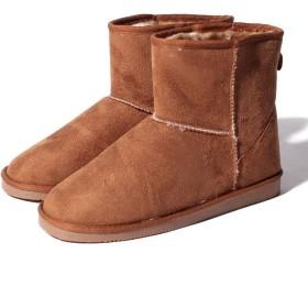 【25%OFF】 シュークロ ショート丈 ふわもこファームートンブーツ レディース キャメル L 【Shoes in Closet】 【セール開催中】