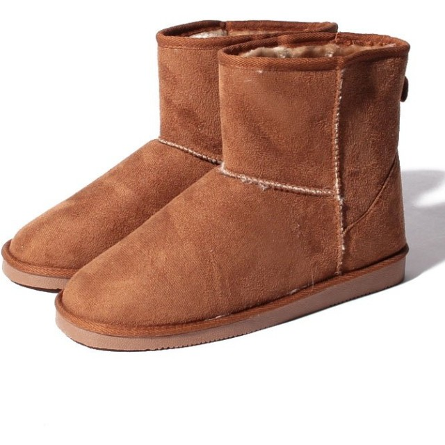 【38%OFF】 シュークロ ショート丈 ふわもこファームートンブーツ レディース キャメル L 【Shoes in Closet】 【セール開催中】