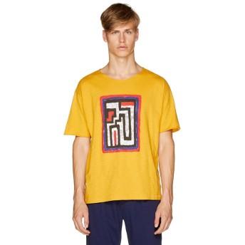 【48%OFF】 ベネトン(ユナイテッド カラーズ オブ ベネトン) FABRICAデザイン半袖Tシャツ・カットソー1 メンズ イエロー S (国内M相当) 【BENETTON (UNITED COLORS OF BENETTON)】 【セール開催中】