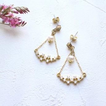 花火の季節 - 真珠の真鍮のイヤリング - は変更することができます