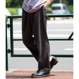 ジュンレッド/クールテックスワイドパンツ/ブラック系/M