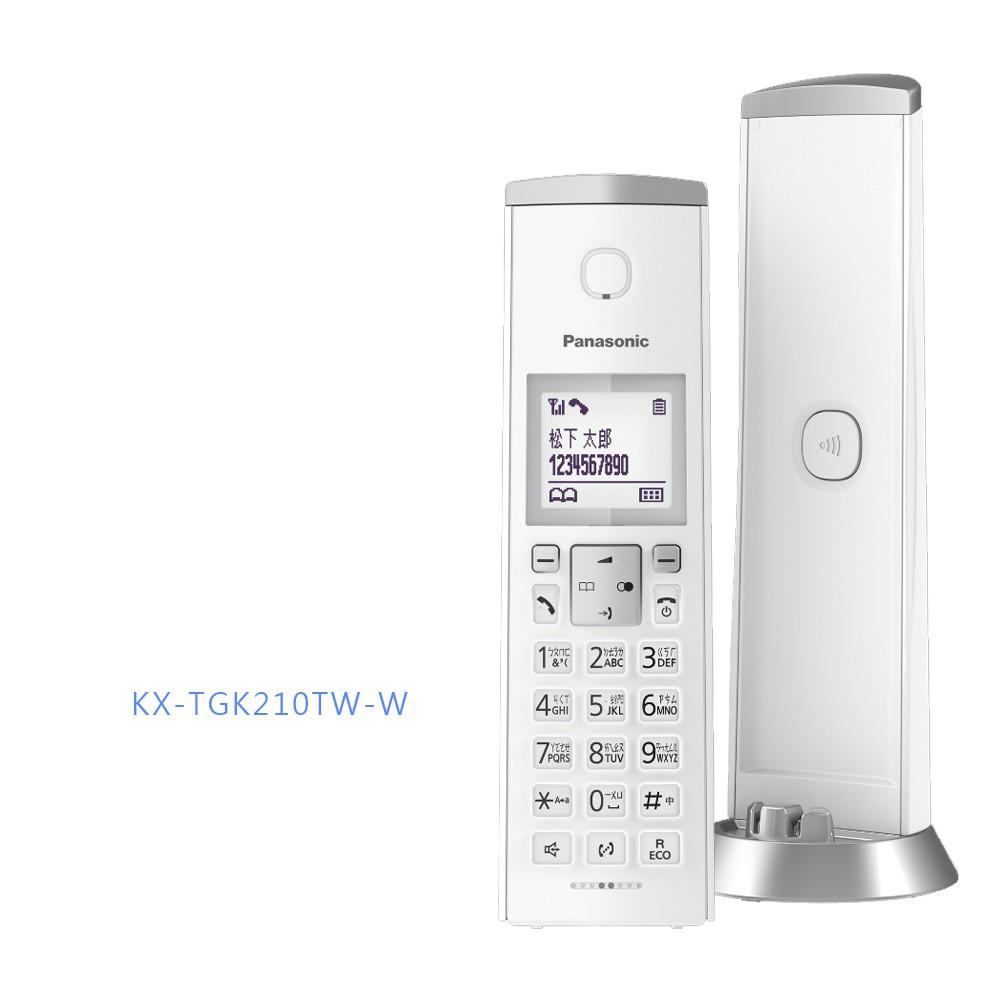【國際牌PANASONIC】中文顯示時尚造型無線電話 KX-TGK210TW / KX-TGK210