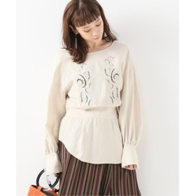 JOURNAL STANDARD L'ESSAGE 【Uhr/ウーア】Embroidery Blouse ナチュラル 36