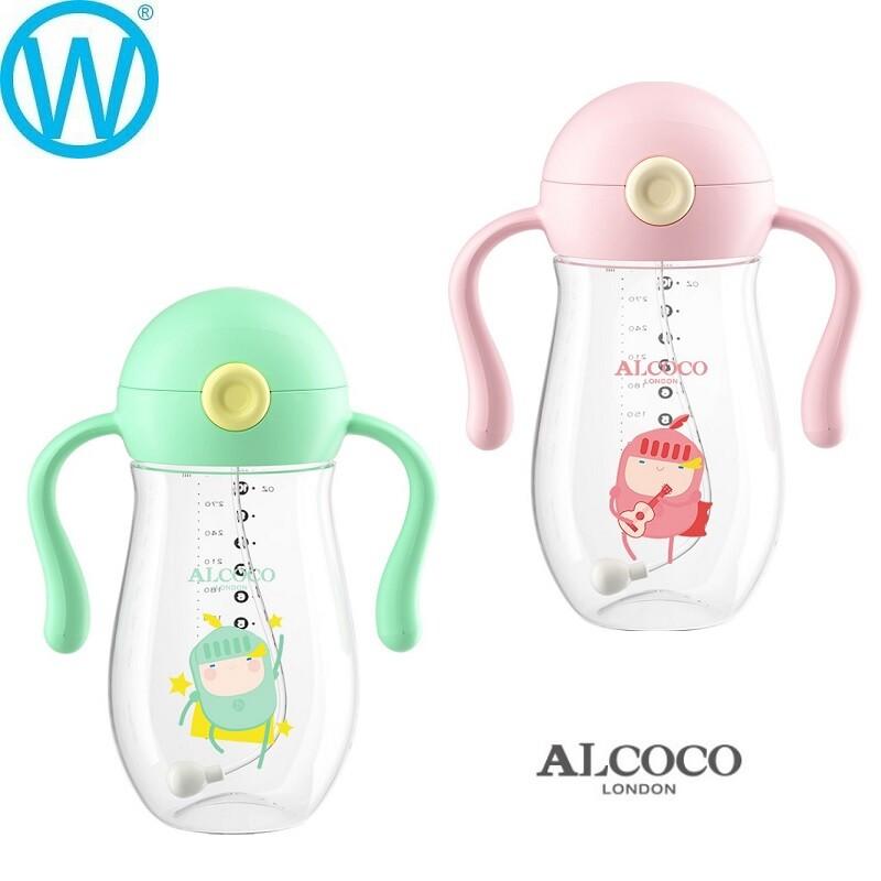 英國alcoco 學習杯 tritan 吸管水杯 兒童水壺wanworld