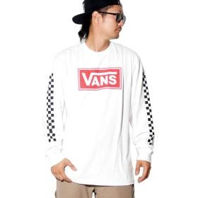 (バンズ) VANS ロングTシャツ メンズ USAモデル ロゴ 袖チェッカー VN0A40MA ホワイト 2XL [並行輸入品]