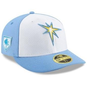 ニューエラ メンズ 帽子 アクセサリー Tampa Bay Rays New Era 2019 Spring Training Low Profile 59FIFTY Fitted Hat White/Light Blue