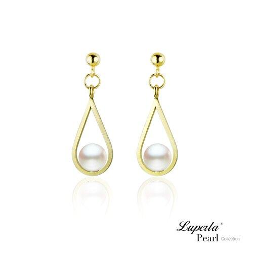 大東山珠寶 珍藏 14K金天然淡水珍珠耳環 歐美古典編織珠寶