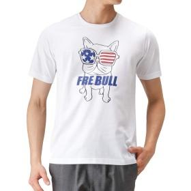 FRE BULL(フレブル) LOVE-T フレブルプリントTシャツ 半袖Tシャツ プリントTシャツ S9510-329 メンズ ホワイトB:L