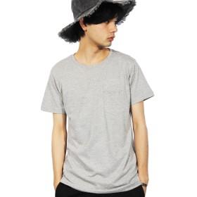 (エイト) 8(eight)4color シンプルな 無地 半袖Tシャツ ポケット付き ストリート グレー M