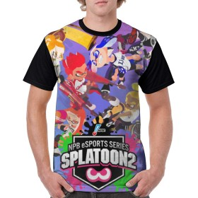 夏服 スプラトゥーン Splatoon Tシャツ メンズ 半袖 カットソー ベーシックTシャツ カジュアル ファッション 丸襟 柔らかい おおきいサイズ 快適 半袖 人気 軽い 柔らかい シルエット おしゃれ ファッション 薄手