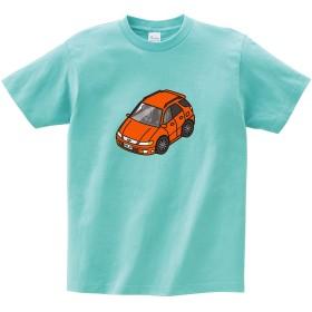 MKJP カスタムTシャツ セフィーロ WA32 車カラー:オレンジ シャツカラー:アクア XXL