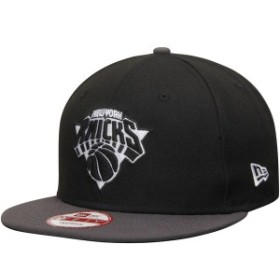 ニューエラ メンズ 帽子 アクセサリー New York Knicks New Era 9FIFTY Snapback Adjustable Hat Black/Graphite