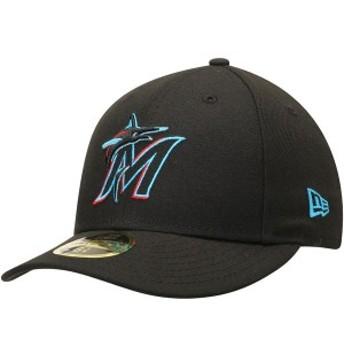ニューエラ メンズ 帽子 アクセサリー Miami Marlins New Era 2019 Authentic Collection On-Field Low Profile 59FIFTY Fitted Hat Blac