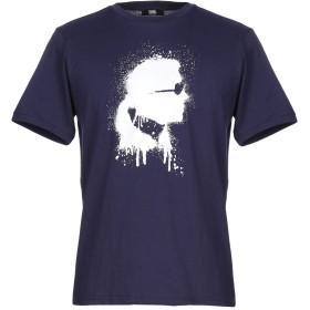 《セール開催中》KARL LAGERFELD メンズ T シャツ ダークブルー S コットン 100%