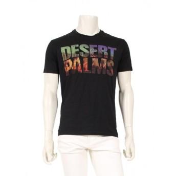 ディースクエアード DSQUARED2 DEAERT PALMS プリント Tシャツ カットソー 黒 マルチカラー メンズ 中古