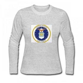 トップス 米空軍 Women Long Sleeve T-Shirt レディーズ Tシャツ
