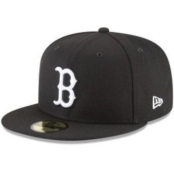 ニューエラ メンズ 帽子 アクセサリー Boston Red Sox New Era Basic 59FIFTY Fitted Hat Black