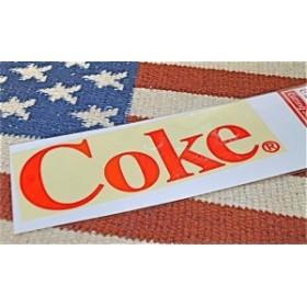 アメリカン雑貨 コカコーラ グッズ カッティングステッカー Coke RED-HS0352