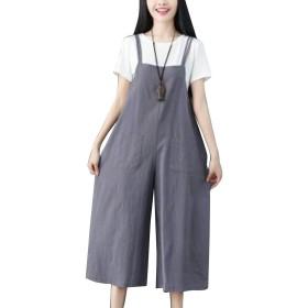 女性はスーツスーツスーツカミコットンゆったりノースリーブ夏固体 Grey 3XL
