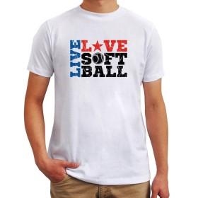 Live love softball Tシャツ