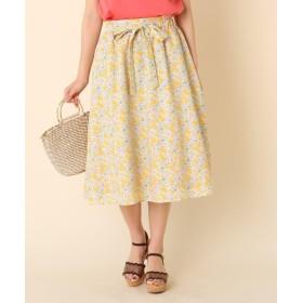 Couture Brooch(クチュールブローチ) ◆【WEB限定サイズ(S・LL)あり】【洗える】プチフラワーベルテッドスカート