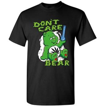Don't Care Bear Bong Tシャツハイ・マリファナ喫煙雑草420メンズTシャツ