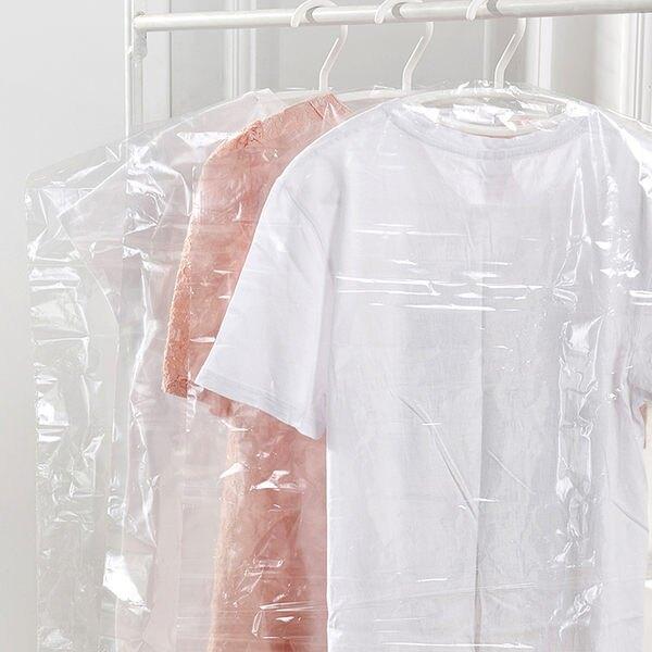 ♚MY COLOR♚厚6絲透明塑料防塵袋 衣物 褲子 收納 拉鍊 折疊 防塵 櫥櫃 衣櫃 防潮 透氣 【L057-3】