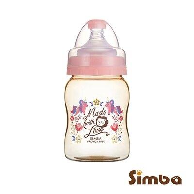 【淘氣寶寶】小獅王 辛巴 Simba 桃樂絲PPSU寬口葫蘆小奶瓶(蜜粉色) S61864