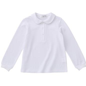 ショパン(CHOPIN) 小学校 お受験 子供服 女の子 8693-2382 長袖ポロシャツ 体操服 (130, ホワイト)