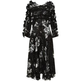 《期間限定セール開催中!》PREEN by THORNTON BREGAZZI レディース 7分丈ワンピース・ドレス ブラック S シルク 56% / レーヨン 44%