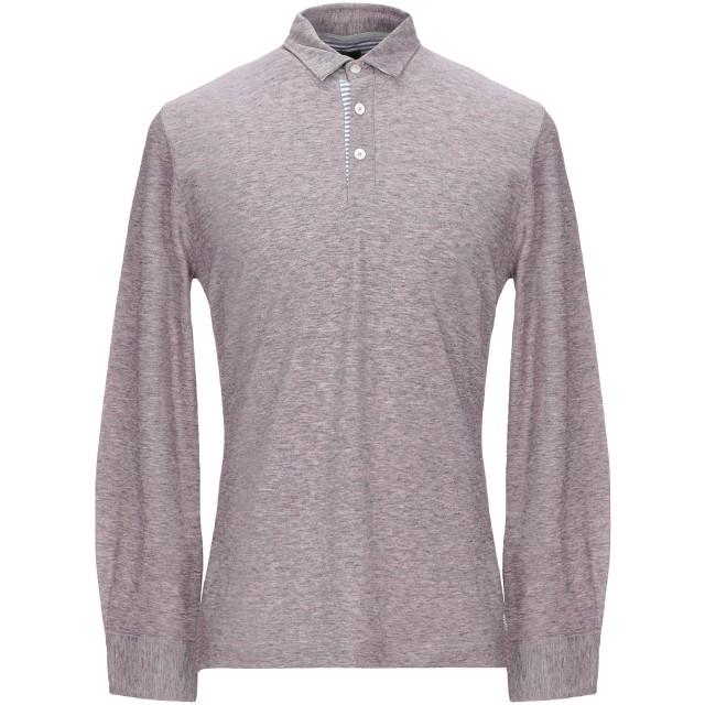 《期間限定セール開催中!》ELEVENTY メンズ ポロシャツ ライトパープル M コットン 100%