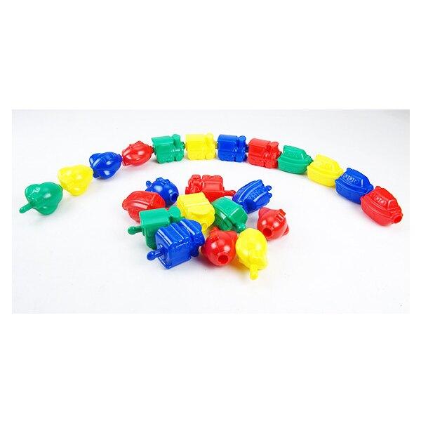 【USL遊思樂教具】交通工具串接組 (4色,36pcs) E2021A01