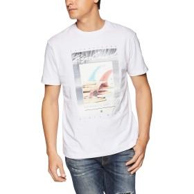 [リップカール] [メンズ] 半袖 プリント Tシャツ (クラシックFIT)[ T01-203 / DRY DREAM SS TEE ] おしゃれ WHT_ホワイト US M (日本サイズM相当)