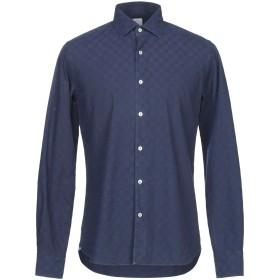 《セール開催中》CELLINI メンズ シャツ ダークブルー 40 コットン 100%