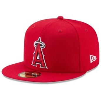 ニューエラ メンズ 帽子 アクセサリー Los Angeles Angels New Era Game Authentic Collection On-Field 59FIFTY Fitted Hat Red
