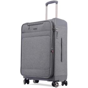 Uniwalker 防水加工 スーツケース 容量拡張可能 超軽量 キャリーバッグ 旅行 出張 キャリーケース TSAロック 丈夫 静音 S型 機内持ち込み (S (機内持込)型, グレー)