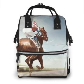 万洋 最新旅行 通勤 個性的 多機能レジャーバッグ リュック マザーズバッグ ベビー用品収納 出産準備 防水盗難防止ポケット シンプル大容量手提げ袋 かわいい -競馬馬術