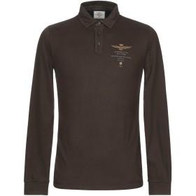 《期間限定 セール開催中》AERONAUTICA MILITARE メンズ ポロシャツ ダークグリーン S コットン 100%