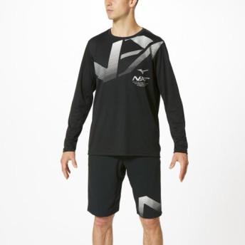 MIZUNO SHOP [ミズノ公式オンラインショップ] N-XT Tシャツ(長袖)[ユニセックス] 09 ブラック 32JA9740