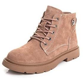 [34-maizhuoyuanlin] 女性の足首の仕事のブーツ、分厚いかかとのハイキングブーツの靴をひもで締めます (Color : ピンク, サイズ : 40)