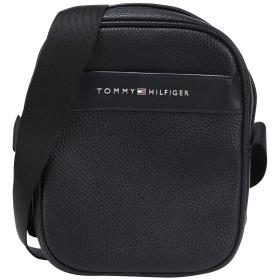 《期間限定セール開催中!》TOMMY HILFIGER メンズ メッセンジャーバッグ ブラック ポリウレタン 100% TH BUSINESS MINI REP