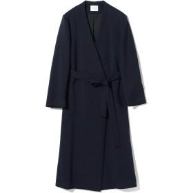 (デミルクスビームス)Demi-Luxe BEAMS コート バイカラー ノーカラーコート レディース ネイビー 紺 38