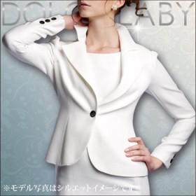 (ドルチェルビ) DOLCE LABY レディース スーツ パフスリーブジャケット 単品生地:7.グレー細ストライプ(M27211/TK) 11号(L) 着丈56 袖丈57 半胴38 裏地:生地同色