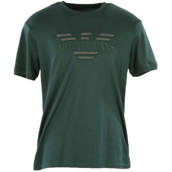 《9/20まで! 限定セール開催中》ARMANI JEANS メンズ T シャツ グリーン L コットン 100%