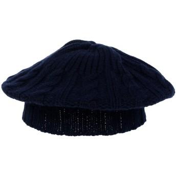 《期間限定セール開催中!》MALO レディース 帽子 ダークブルー one size カシミヤ 100%