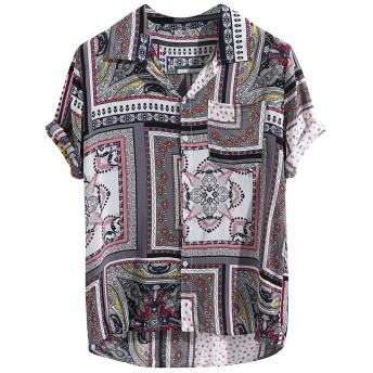 メンズアクティブシャツ Tシャツ Joielmal Tシャツ ミリタリー ロゴ プリント 半袖 メンズ